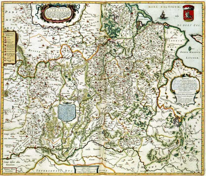 1648_Blaeu_-_Magni_Dvcatvs_Lithvaniae_Compressed