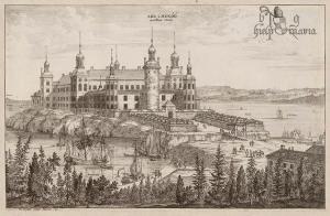 Lekē pils Zviedrijā, Vilema Svida gravīra