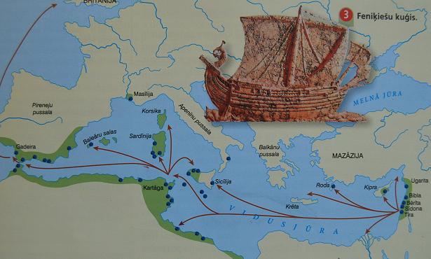 Feniķiešu tirdzniecības kolonijas, www.uzdevumi.lv